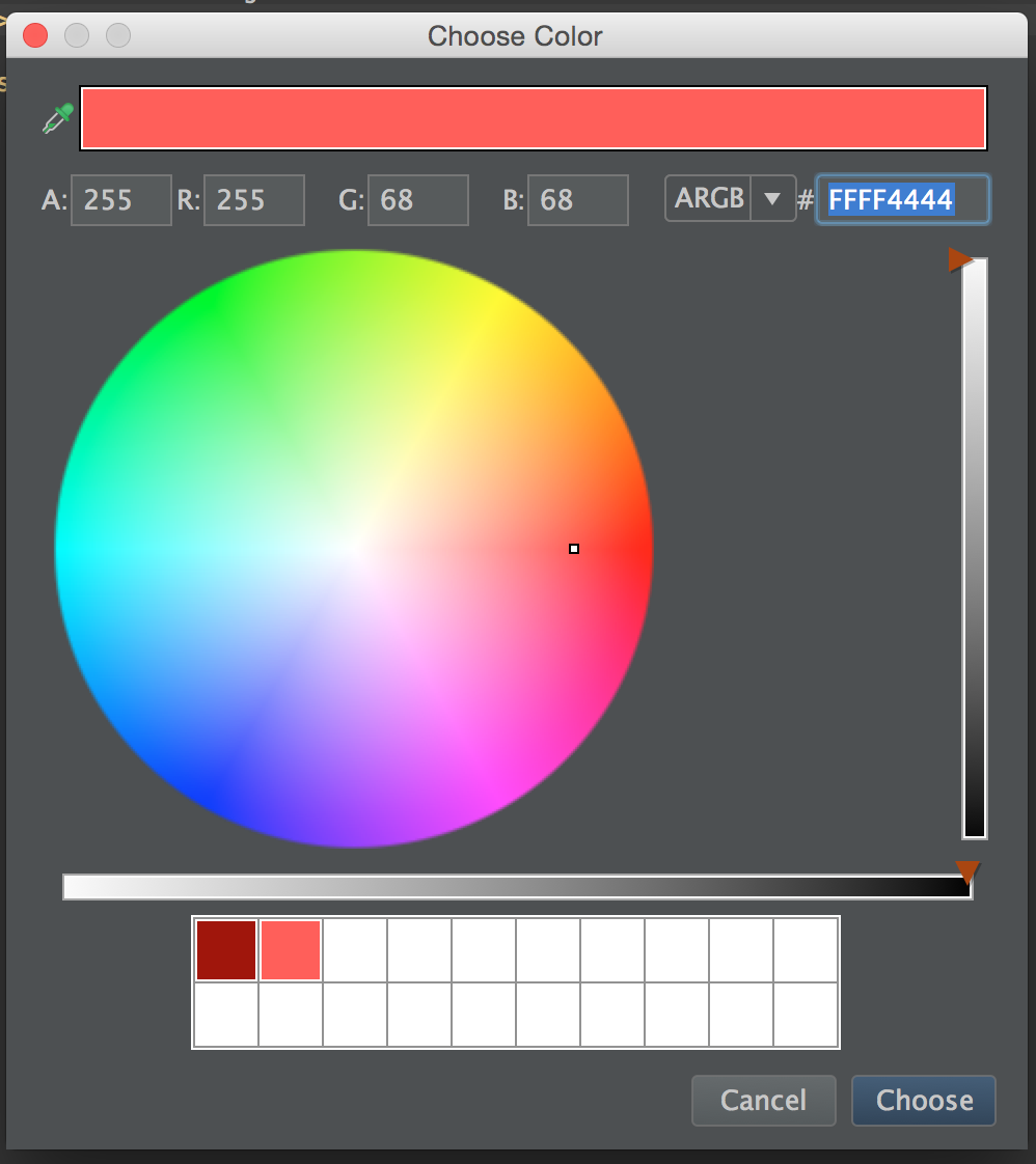 Android Studio Color Chooser