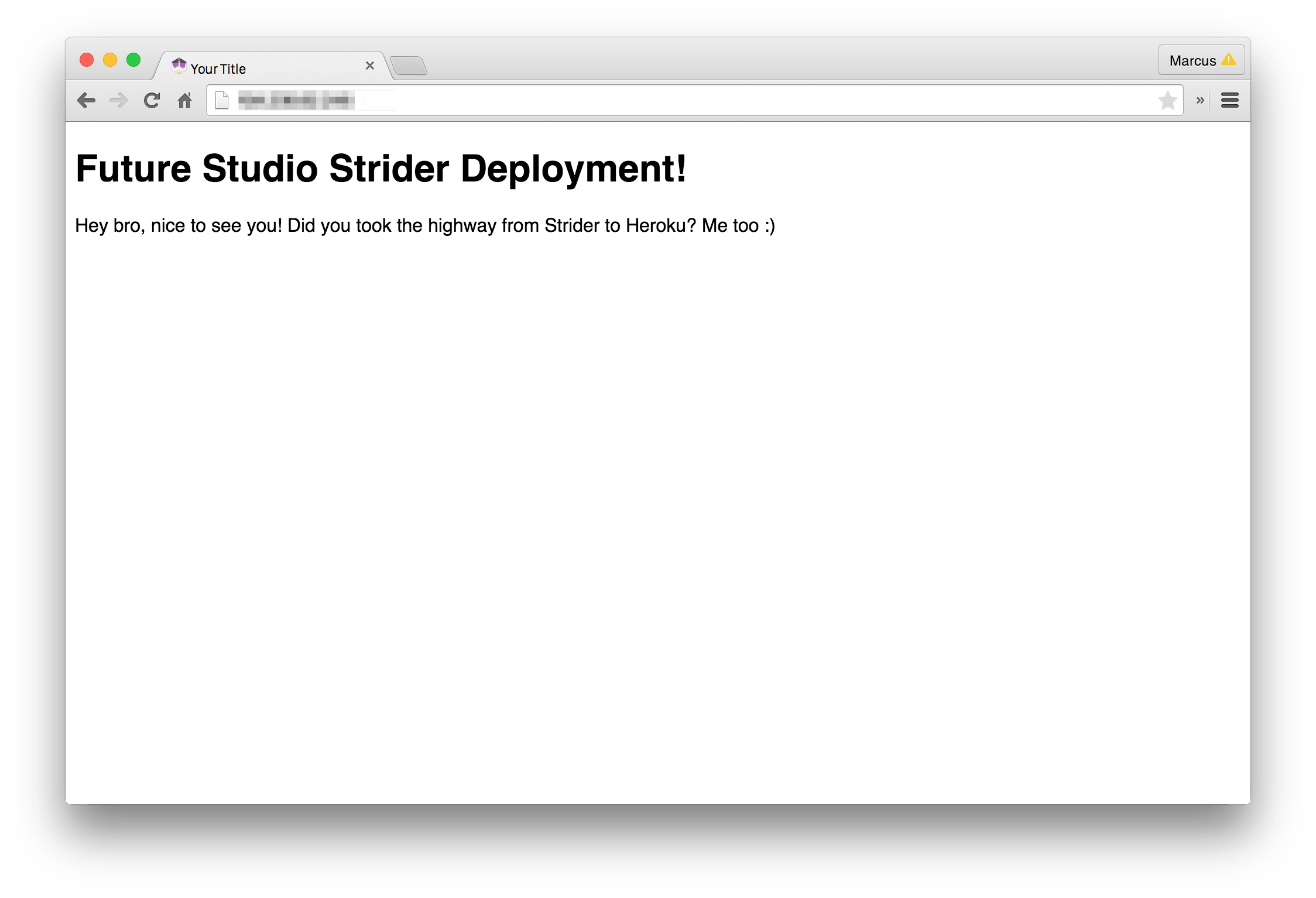 Running App after Strider SSH Deployment
