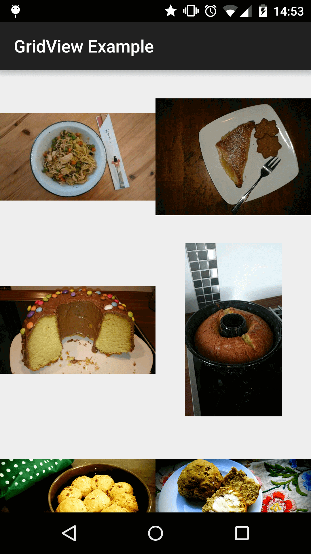 GridView with eatfoody Images