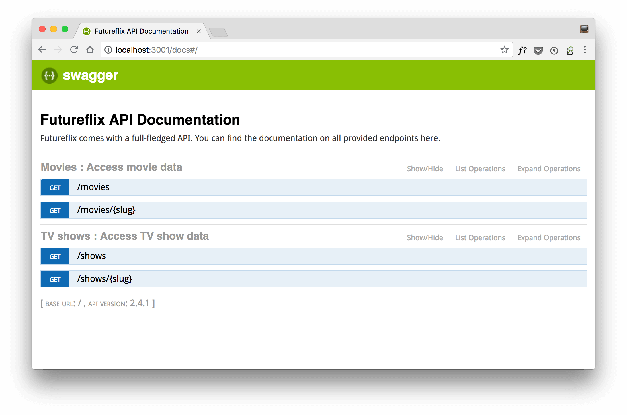 learn hapi — Create an API Documentation with Swagger